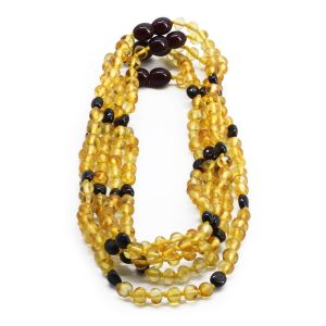 BALTIC AMBER NECKLACE FOR KIDS WHOLESALE LOT OF 5PCS. BAROQUE. BE172