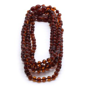 BALTIC AMBER NECKLACE FOR KIDS WHOLESALE LOT OF 5PCS. BAROQUE. XB55C