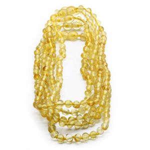 BALTIC AMBER NECKLACE FOR KIDS WHOLESALE LOT OF 5PCS. BAROQUE. XB55Y