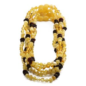 BALTIC AMBER NECKLACE FOR KIDS WHOLESALE LOT OF 5PCS. BAROQUE. CE131