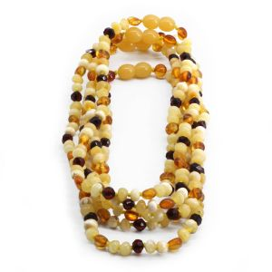BALTIC AMBER NECKLACE FOR KIDS WHOLESALE LOT OF 5PCS. LIMITED EDITION. LE353
