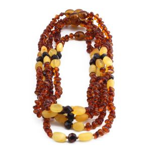 BALTIC AMBER NECKLACE FOR KIDS WHOLESALE LOT OF 5PCS. LIMITED EDITION. BE182