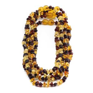 BALTIC AMBER NECKLACE FOR KIDS WHOLESALE LOT OF 5PCS. LIMITED EDITION. LE358