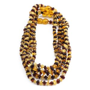 BALTIC AMBER NECKLACE FOR KIDS WHOLESALE LOT OF 5PCS. LIMITED EDITION. LE359