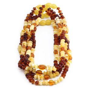 BALTIC AMBER NECKLACE FOR KIDS WHOLESALE LOT OF 5PCS. LIMITED EDITION. LE365