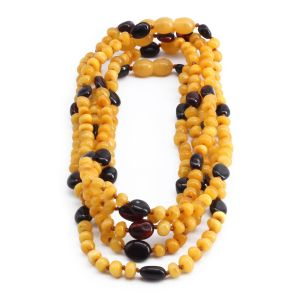 BALTIC AMBER NECKLACE FOR KIDS WHOLESALE LOT OF 5PCS. LIMITED EDITION. LE369