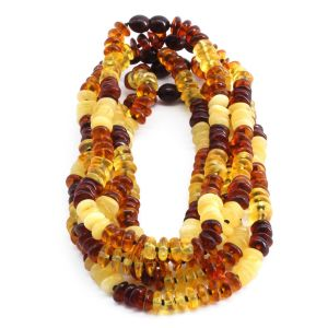BALTIC AMBER NECKLACE FOR KIDS WHOLESALE LOT OF 5PCS. LIMITED EDITION. BE180