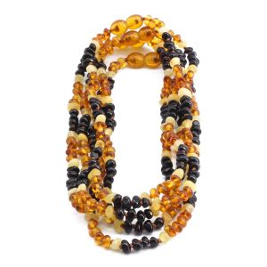 BALTIC AMBER NECKLACE FOR KIDS WHOLESALE LOT OF 5PCS. LIMITED EDITION. CE132