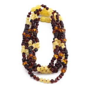 BALTIC AMBER NECKLACE FOR KIDS WHOLESALE LOT OF 5PCS. LIMITED EDITION. LE367