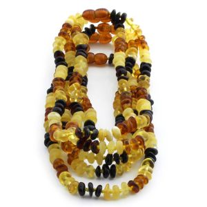 BALTIC AMBER NECKLACE FOR KIDS WHOLESALE LOT OF 5PCS. ROUNDEL. LE331