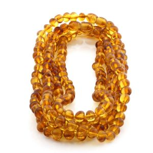 BALTIC AMBER NECKLACES FOR KIDS WHOLESALE LOT OF 5PCS. BAROQUE. XB65LC