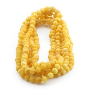 BALTIC AMBER NECKLACES FOR KIDS WHOLESALE LOT OF 5PCS. BAROQUE. XB65MO