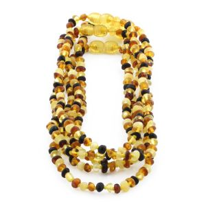 BALTIC AMBER NECKLACES FOR KIDS WHOLESALE LOT OF 5PCS. BAROQUE. XB43M1