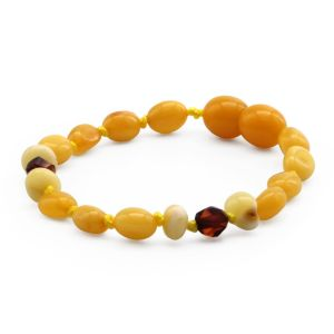BALTIC AMBER TEETHING BRACELET. LIMITED EDITION. LEF1