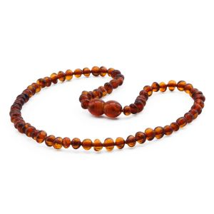 BALTIC AMBER TEETHING NECKLACE. BAROQUE. XB43C-A