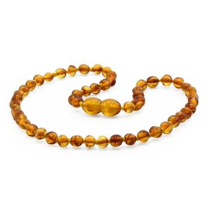 BALTIC AMBER TEETHING NECKLACE. BAROQUE. XB44LC-A