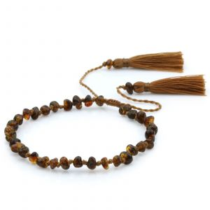 NATURAL BALTIC AMBER TASSEL BRACELET for Adult. TSL16