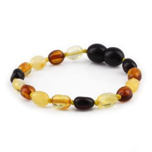 BALTIC AMBER BRACELET FOR KIDS. OLIVE. XO54M2Y