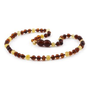 BALTIC AMBER TEETHING NECKLACE. LIMITED EDITION. XLE9