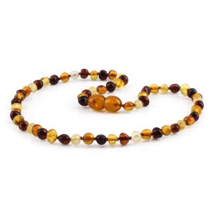 BALTIC AMBER TEETHING NECKLACE. BAROQUE. XB54M