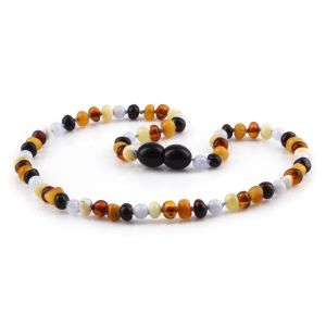 BALTIC AMBER TEETHING NECKLACE. LIMITED EDITION. AG61