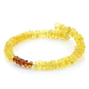 NATURAL BALTIC AMBER 925 STERLING SILVER BRACELET. SPT62BG