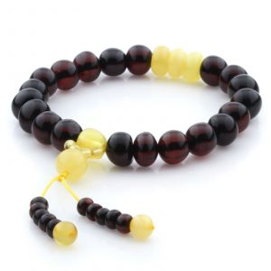 baltic-amber-bracelet-with-tassel-for-adults