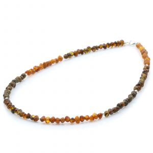 ADULT BALTIC AMBER 925 STERLING SILVER NECKLACE. SPT32