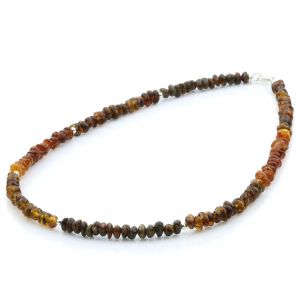 ADULT BALTIC AMBER 925 STERLING SILVER NECKLACE. SPT35