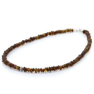 ADULT BALTIC AMBER 925 STERLING SILVER NECKLACE. SPT36