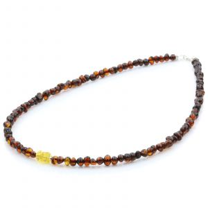 ADULT BALTIC AMBER 925 STERLING SILVER NECKLACE. SPT41