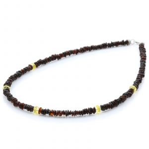 ADULT BALTIC AMBER 925 STERLING SILVER NECKLACE. SPT60