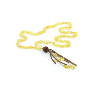NATURAL BALTIC AMBER TASSEL NECKLACE. TASSEL15