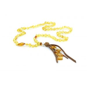 NATURAL BALTIC AMBER TASSEL NECKLACE. TASSEL16