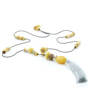 NATURAL BALTIC AMBER TASSEL NECKLACE. TASSEL02