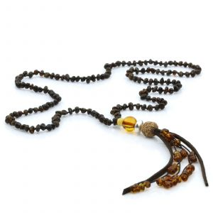 NATURAL BALTIC AMBER TASSEL NECKLACE. TASSEL08