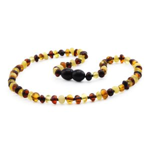 BALTIC AMBER TEETHING NECKLACE. BAROQUE. XB44M2