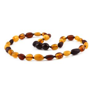 BALTIC AMBER TEETHING NECKLACE. LIMITED EDITION. LEO2