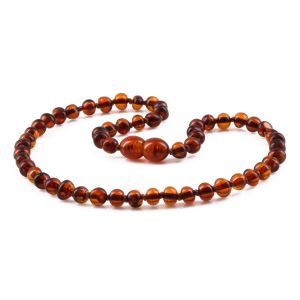 BALTIC AMBER TEETHING NECKLACE. BAROQUE. XB54C-A