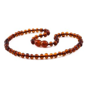 BALTIC AMBER TEETHING NECKLACE. BAROQUE. XB54C-B