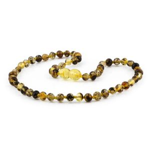 BALTIC AMBER TEETHING NECKLACE. BAROQUE. XB54G