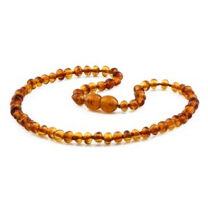 BALTIC AMBER TEETHING NECKLACE. SHAPE. XB54LC-A