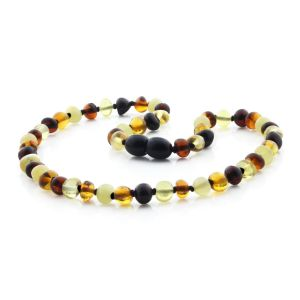 BALTIC AMBER TEETHING NECKLACE. BAROQUE. XB55M2
