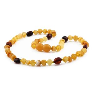 BALTIC AMBER TEETHING NECKLACE. LIMITED EDITION. XLE2