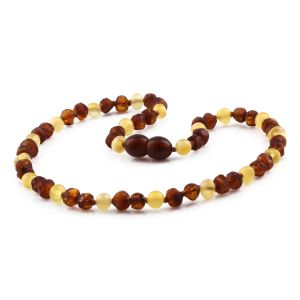 BALTIC AMBER TEETHING NECKLACE. LIMITED EDITION. XLE5