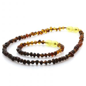 baltic amber teething necklace and bracelet set