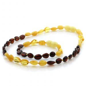 amber teething necklace and bracelet set