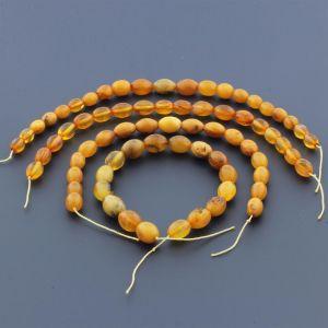 Natural Baltic Amber Loose Beads Strings Set of 4pcs. 30gr. ST1002