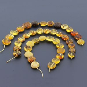 Natural Baltic Amber Loose Beads Strings Set of 3pcs. 29gr. ST684