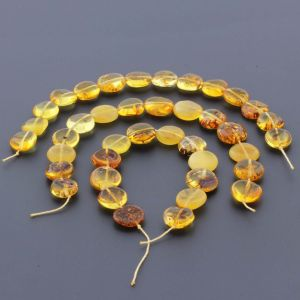 Natural Baltic Amber Loose Beads Strings Set of 3pcs. 29gr. ST685